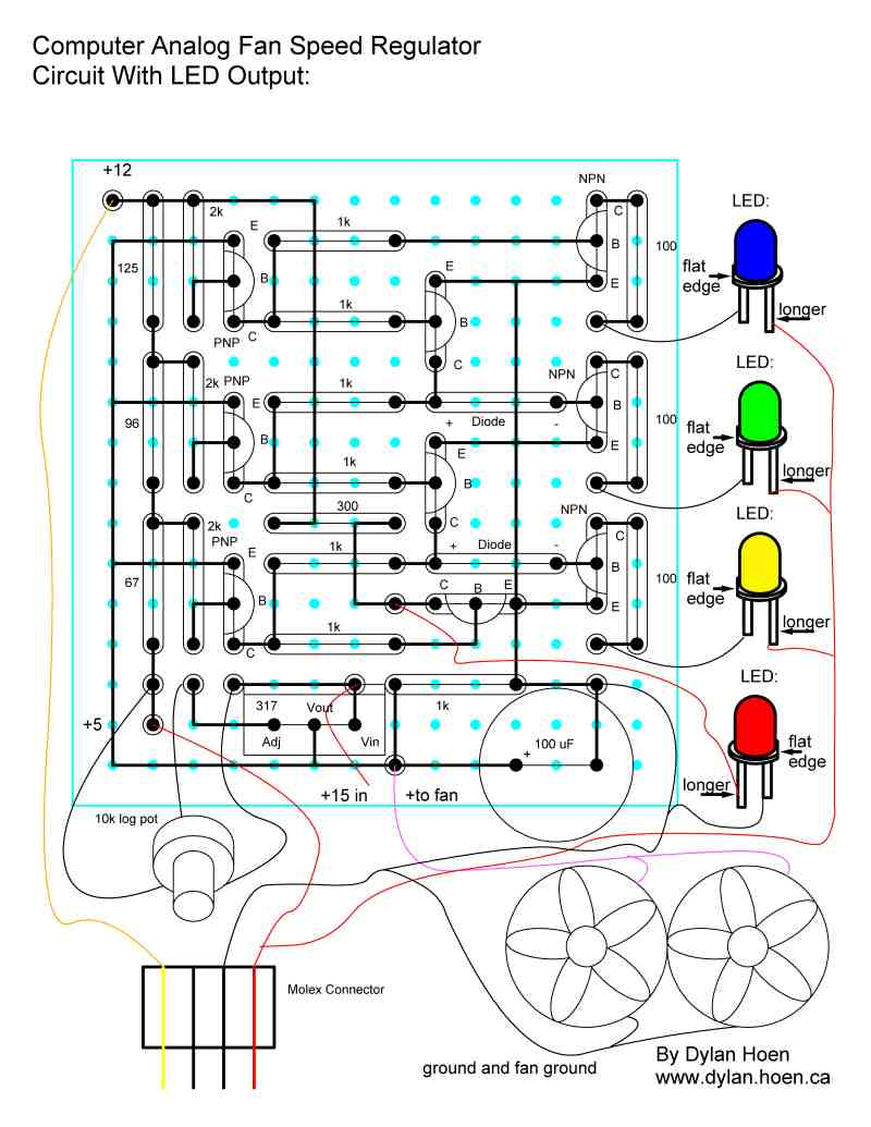 Dylan Hoens Homepage Electrical Engineer And Computer Programmer Circuit Schematic Diagram Of Fan Speed Control I Will Start With The Then Later Add Parts Layout Wiring A Text Explanation How To Build It